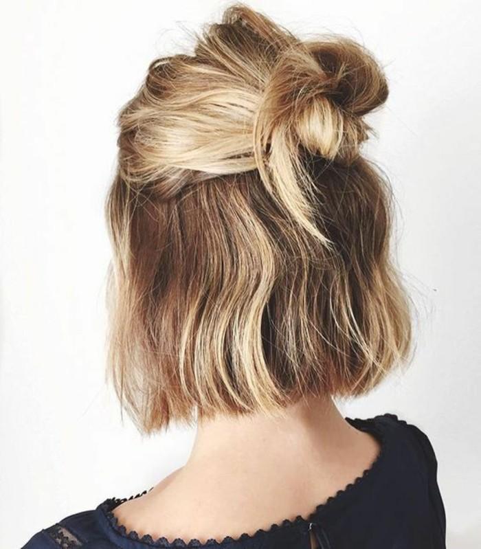 chignon-facile-pour-cheveux-courts-demi-chignon-bun