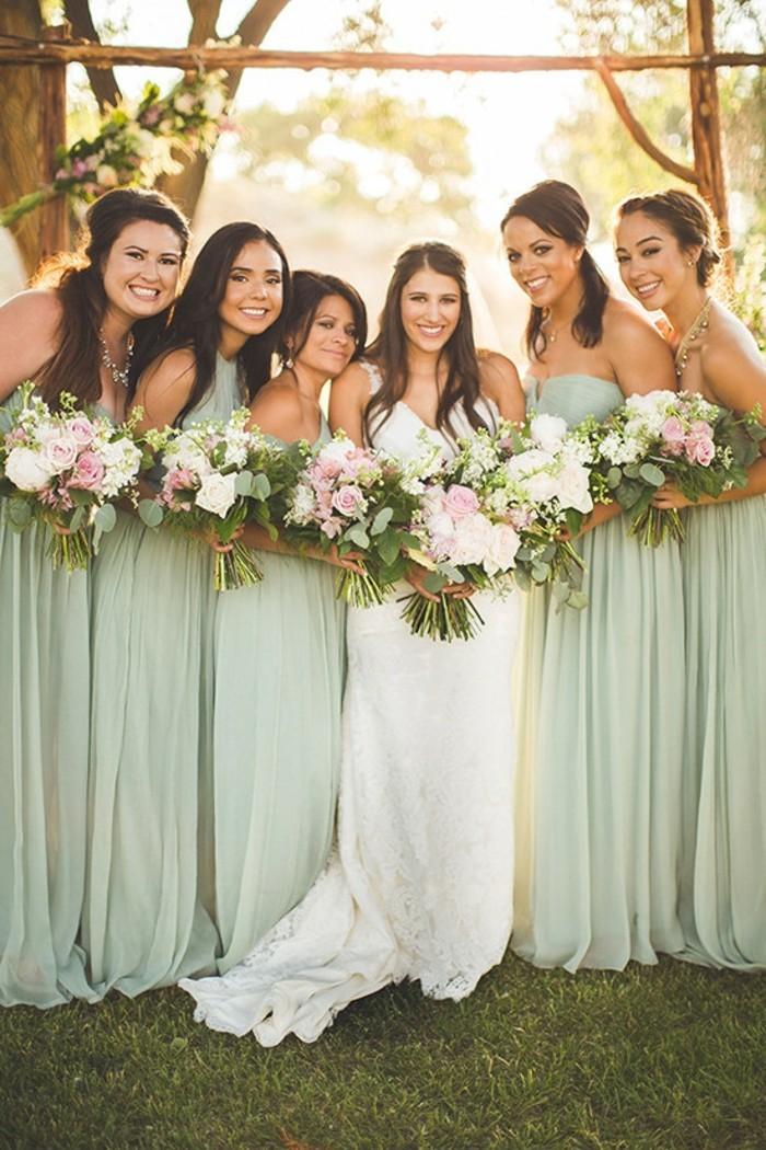 Robe de mariage couleur pastel