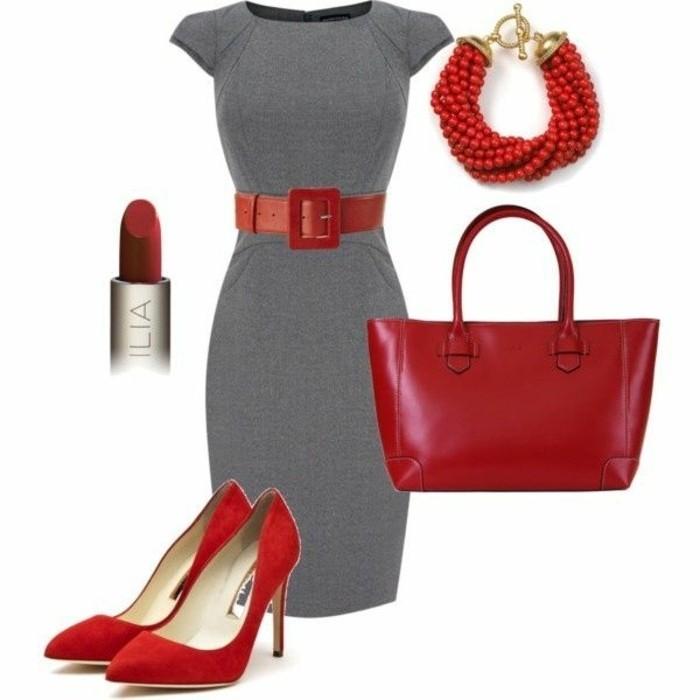 code-vestimentaire-idée-tenue-élégante-en-gris-et-rouge-accessoires