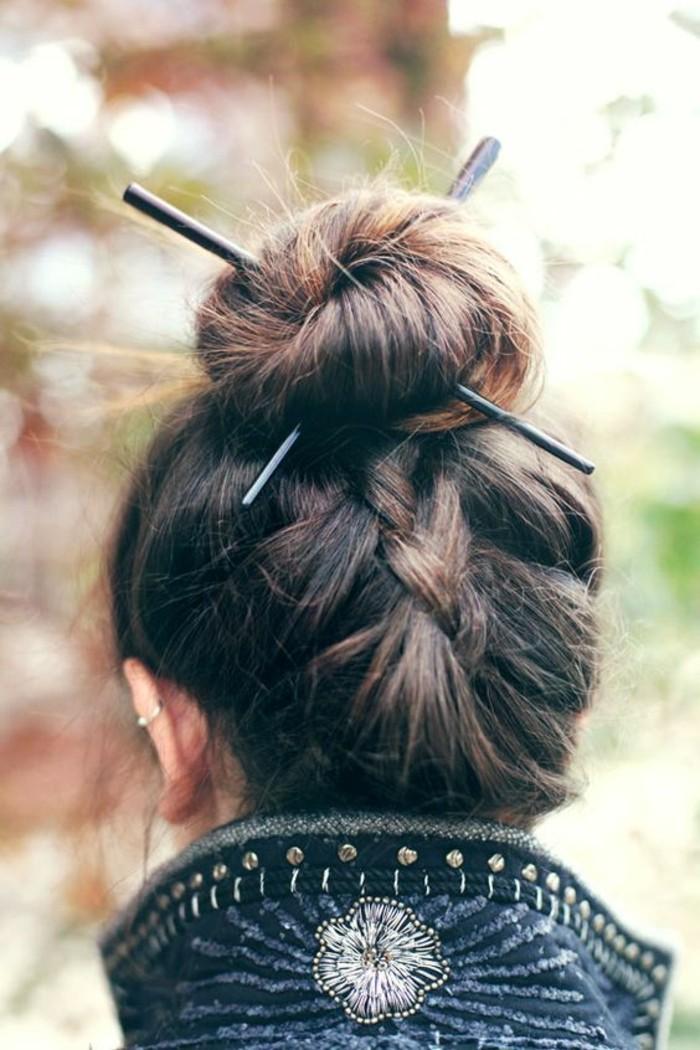 coiffure-originale-et-chic-chignon-bun-et-tresse