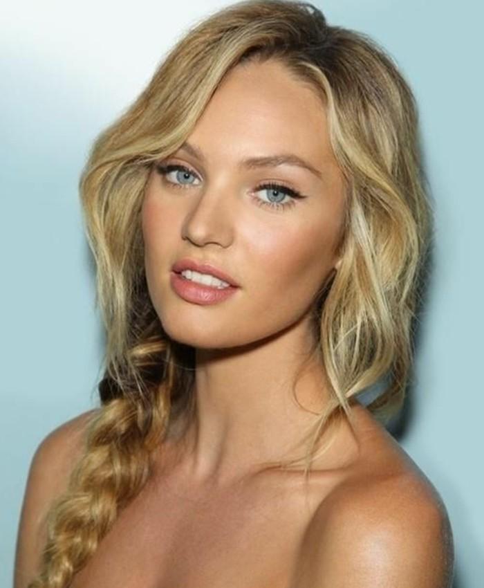 coiffure-romantique-beaute-feminine-tresse-trange-longue-maquillage-naturelle