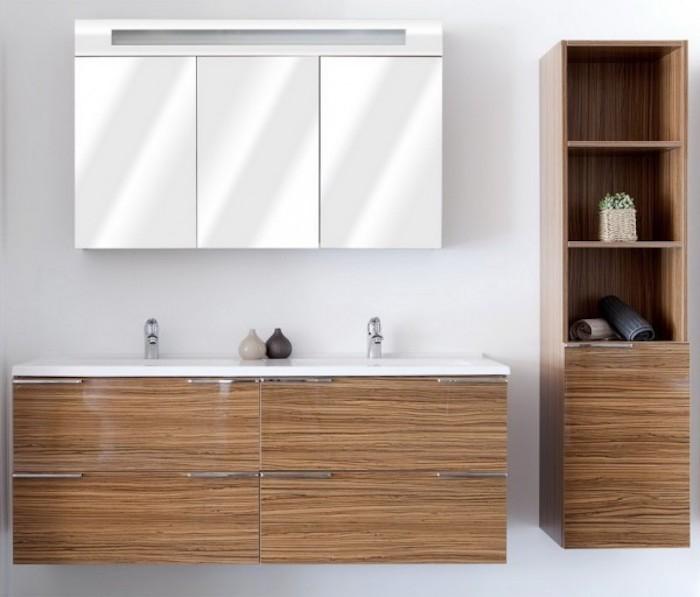 Colonne salle de bain pensez exploiter l 39 espace - Etagere miroir salle de bain ...