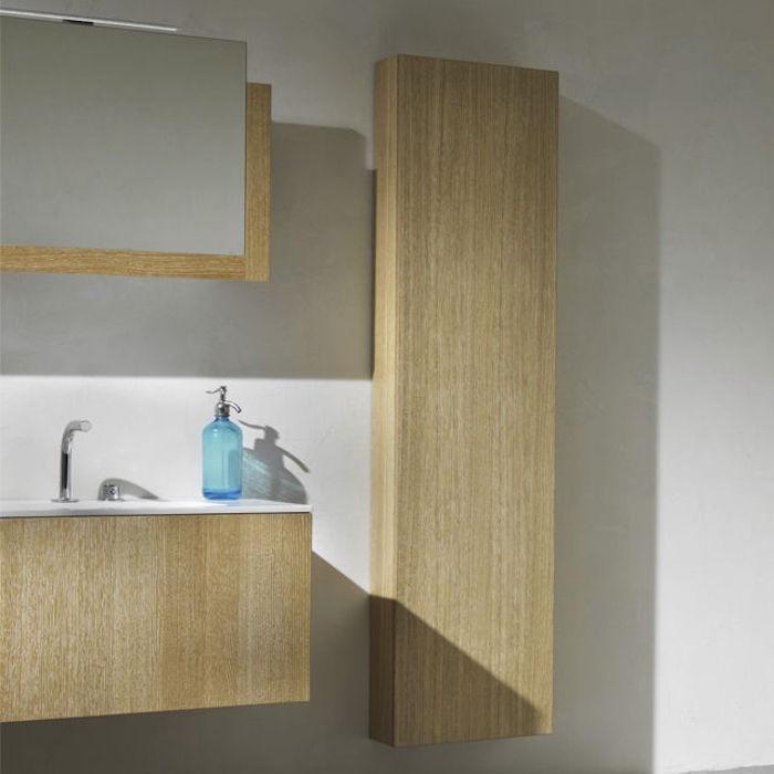 Colonne meuble awesome comforium meuble de rangement en for Etagere salle de bain bois