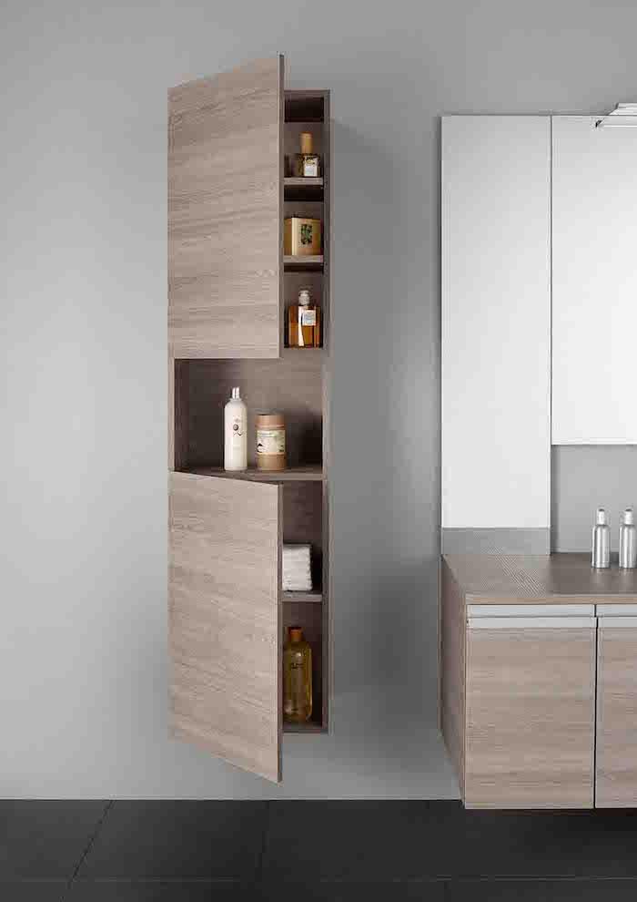Colonne salle de bain pensez exploiter l 39 espace - Etagere murale salle de bain leroy merlin ...