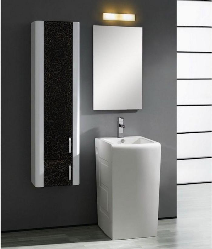 colonne salle de bain noir laque lamine colonne - Colonne Suspendu Salle De Bains