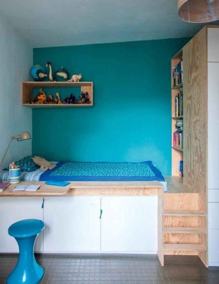 comment-aménager-une-petite-chambre-a-coucher-en-turquoise