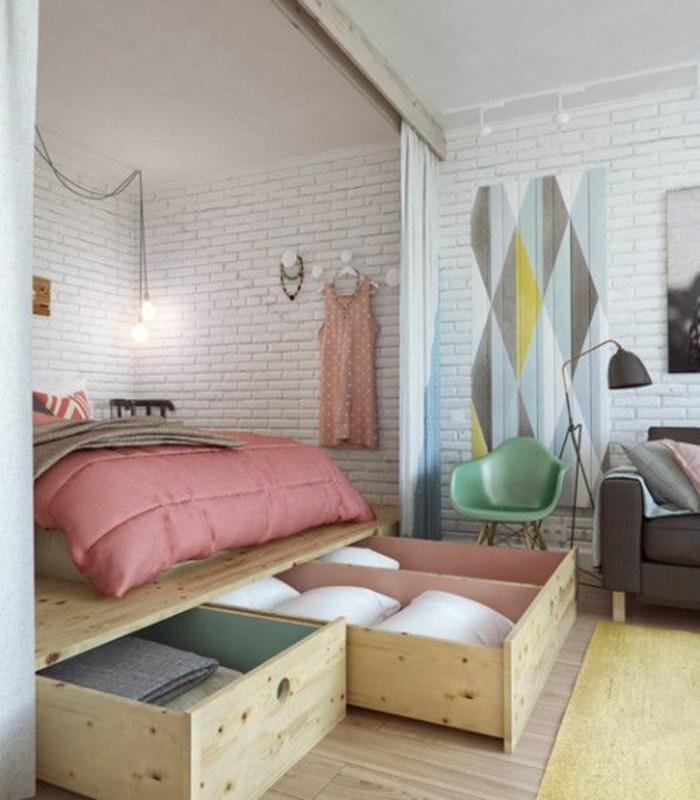comment-aménager-une-petite-chambre-avec-des-gros-tiroirs-de-rangement
