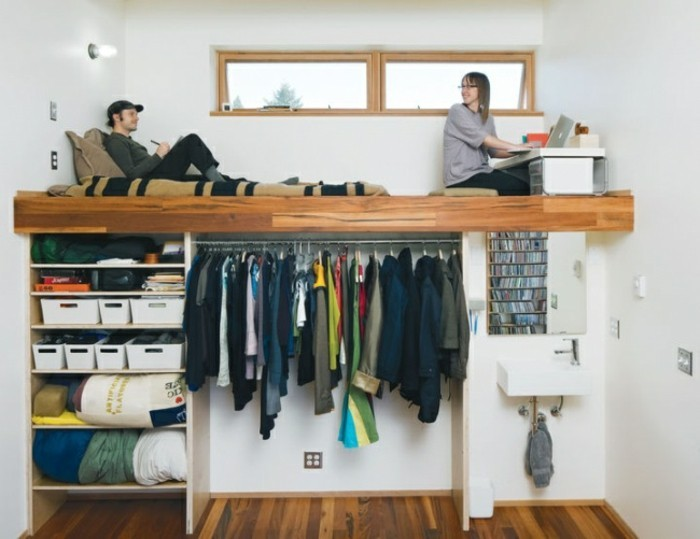 comment amnager une petite chambre avec utilisation de - Comment Faire Un Dressing Dans Une Petite Chambre