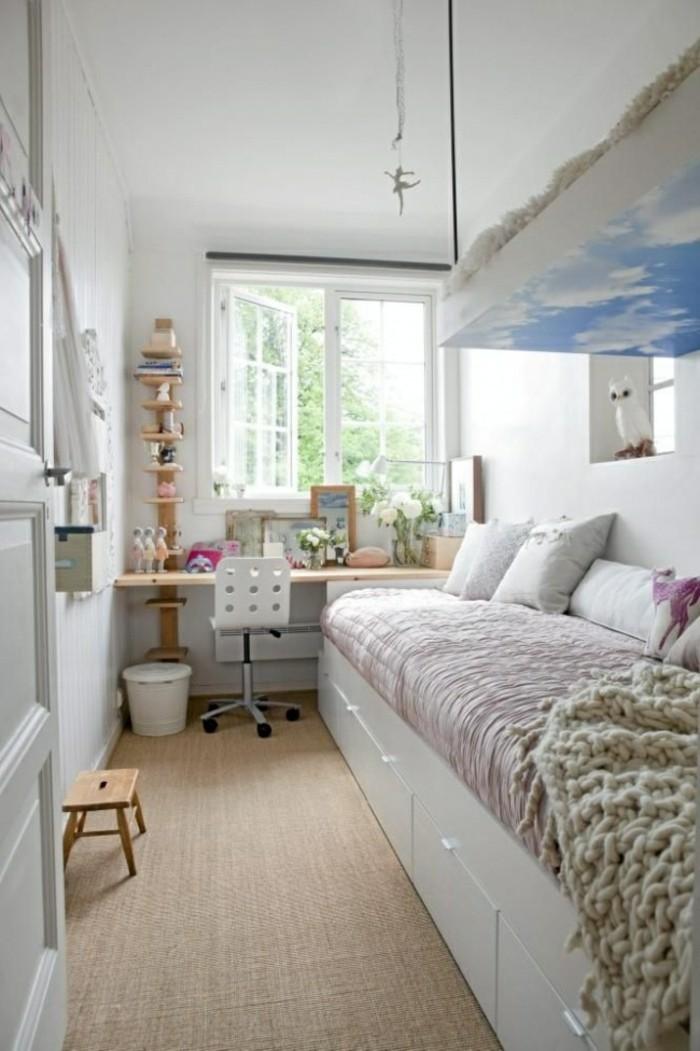 1001 id es comment am nager une petite chambre mini espaces for Amenager une chambre