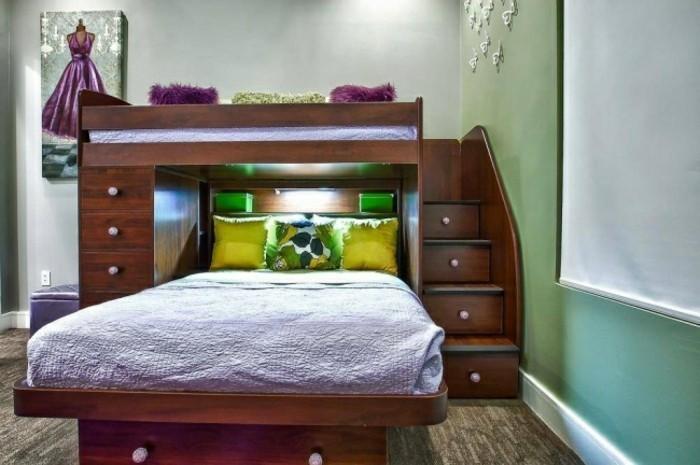 comment-aménager-une-petite-chambre-deux-lits-avec-des-escaliers-tiroirs