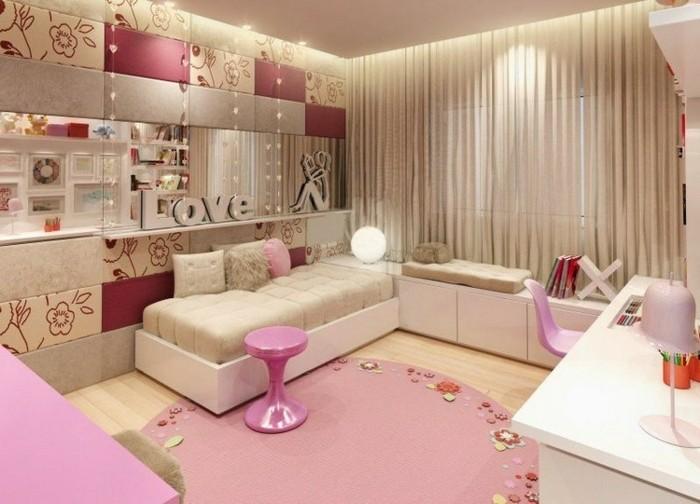 comment-aménager-une-petite-chambre-fille-toute-en-rose-avec-beaucoup-de-fleurs