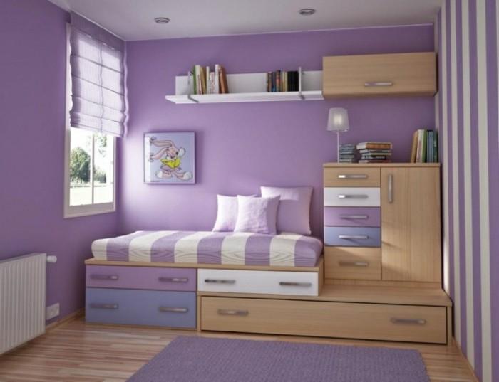 comment-aménager-une-petite-chambre-micro-espace-en-lila