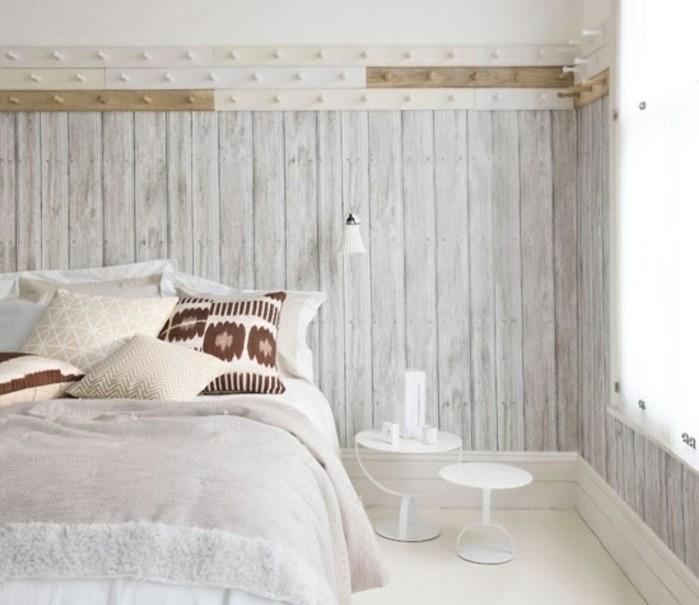 1001 id es pour une chambre scandinave styl e - Chambre en lambris bois ...
