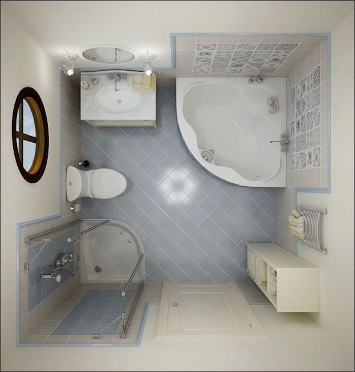 comment amenager une petite salle de bain avec baignoire douche jacuzzi idee sdb - Salle De Bain Douche Et Baignoire