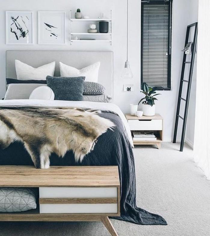 comment-creer-une-ambiance-scandinave-dans-la-chambre-a-coucher-decor-chambre-blanche-avec-des-accents-gris-etagere-murale-blanche-couverture-en-fourrure