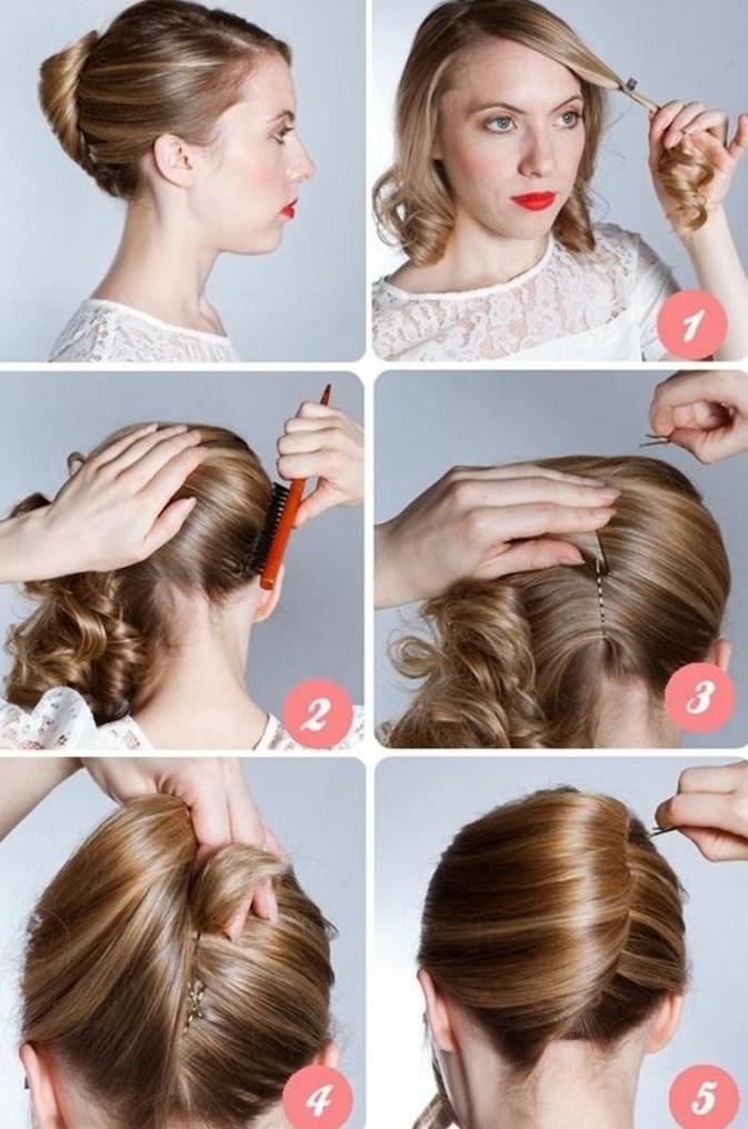 comment,faire,une,coiffure,banane,tuto,chignon,facile
