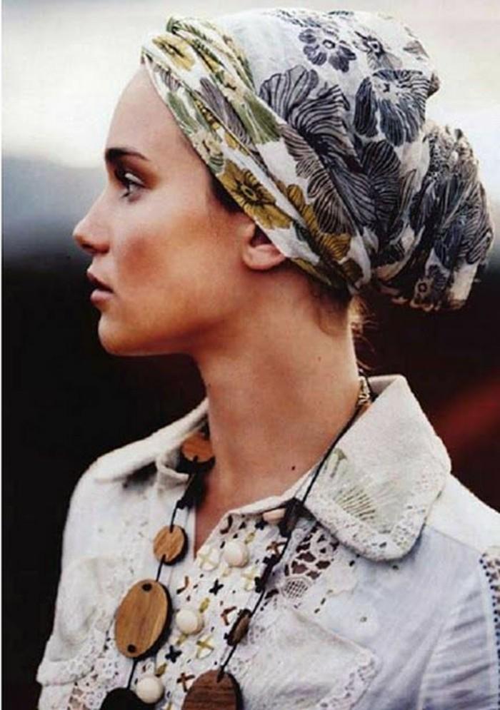 souvent ▷ 1001 idées pour coiffures avec foulard dans les cheveux IX41