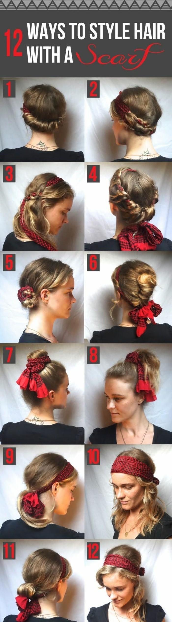 Achat/Vente style le plus récent dégagement ▷ 1001 idées pour coiffures avec foulard dans les cheveux