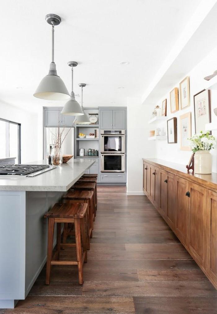 Moderniser une cuisine en bois excellent peindre des meubles de cuisine with - Moderniser une cuisine ...