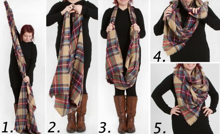comment-porter-un-foulard-foulard-plaid-tutoriel-pas-a-pas