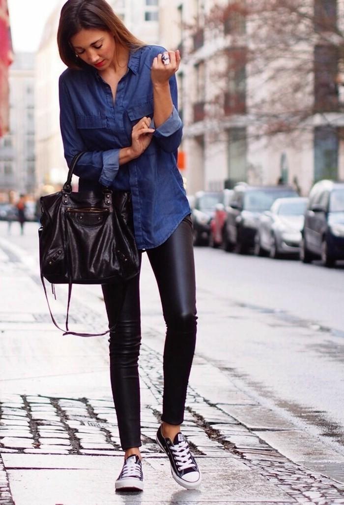 1001 id es avec quoi porter une chemise en jean - Chemise en jean femme comment la porter ...
