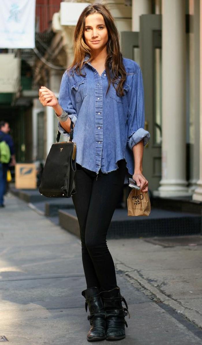 Comment porter une chemise en jean femme fashion designs - Chemise en jean femme comment la porter ...