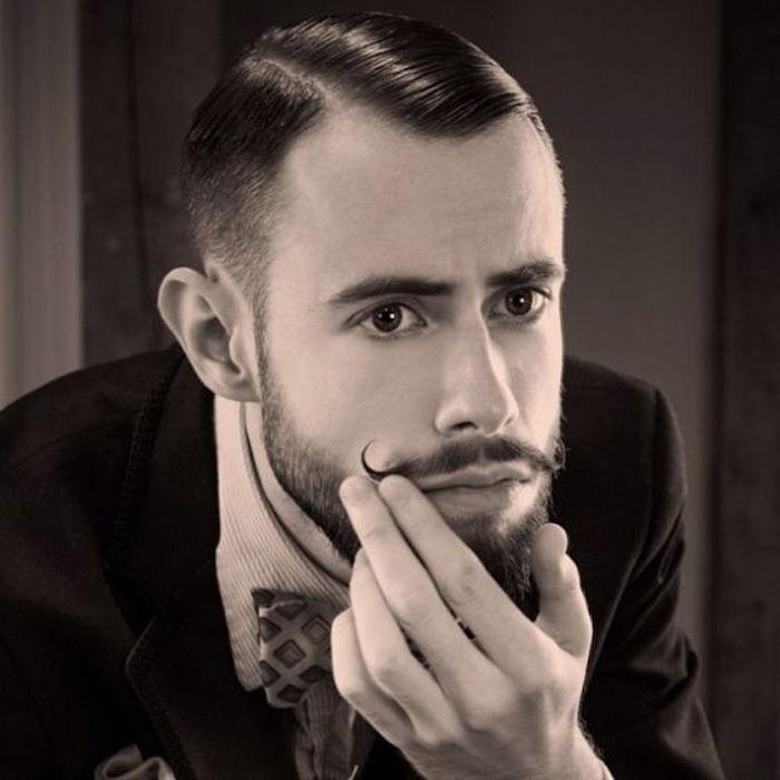 comment se raser la moustache style vintage guidon handlebar