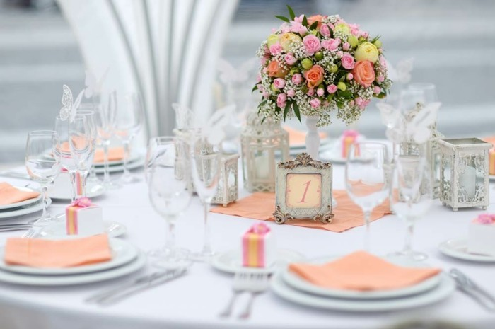 1001 id es pour la d coration de votre mariage pastel - Idee decoration table mariage ...