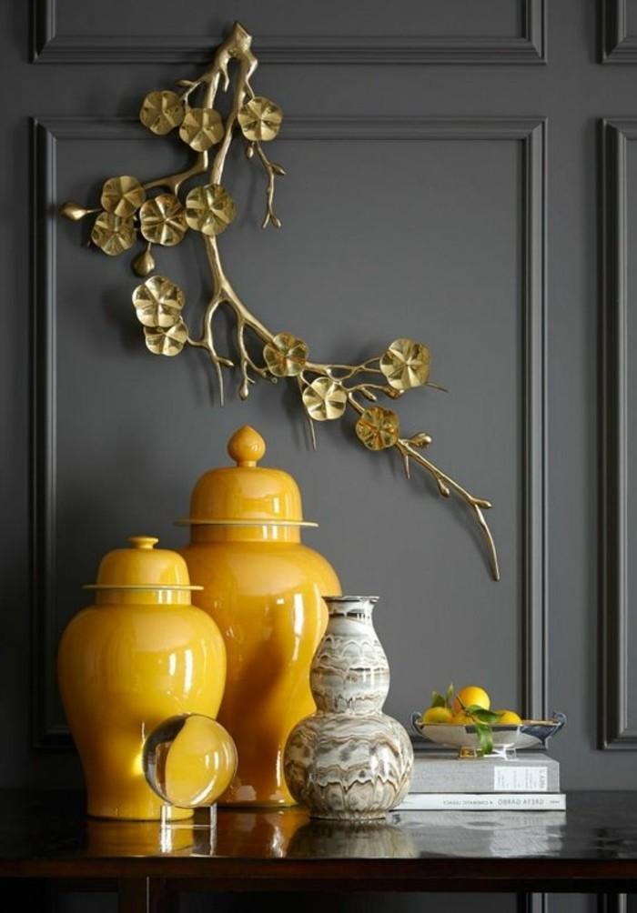 couleur-moutarde-et-gris-décoration-d'espace-colorée