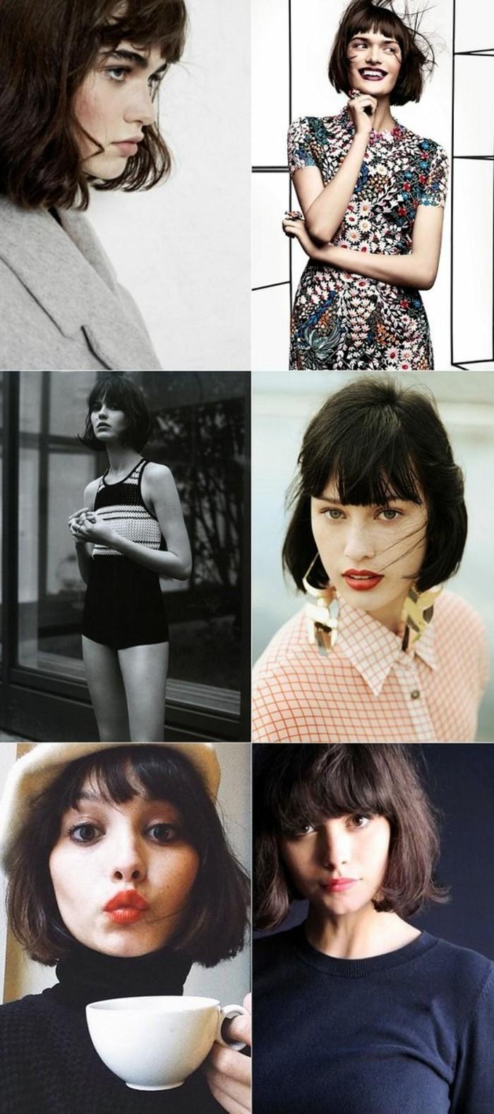 coupe-au-carré-modèles-classique-coupes-de-cheveux-courtes