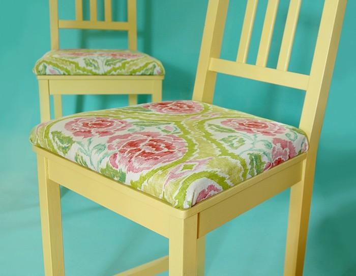 coussin de chaise galette dessus coussins de chaises déco idées