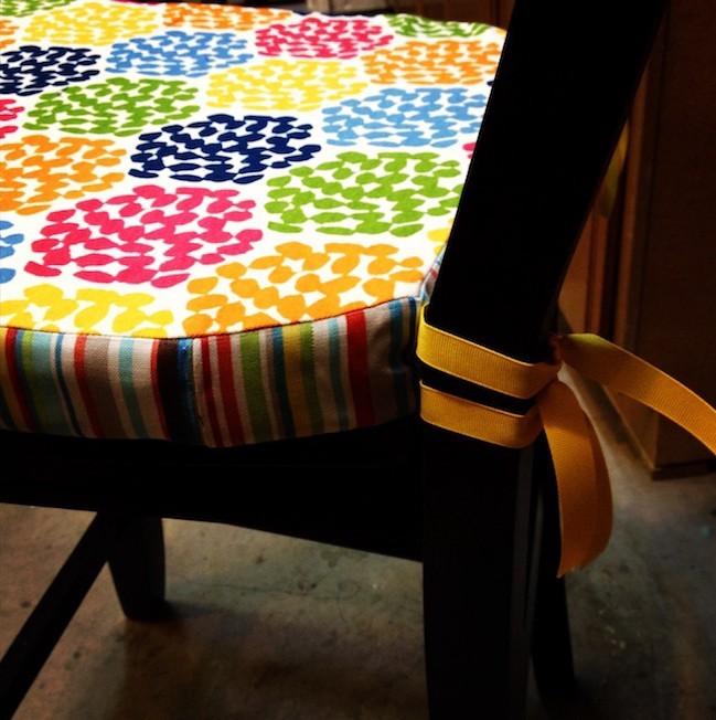 coussin de chaise galette fauteuil siège idee deco couture