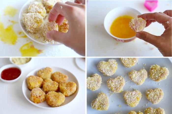 croquette-de-pomme-de-terre-au-fromage-préparer-en-forme-de-coeurs