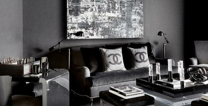 déco-salon-gris-intérieur-glamoureux-style-contemporain