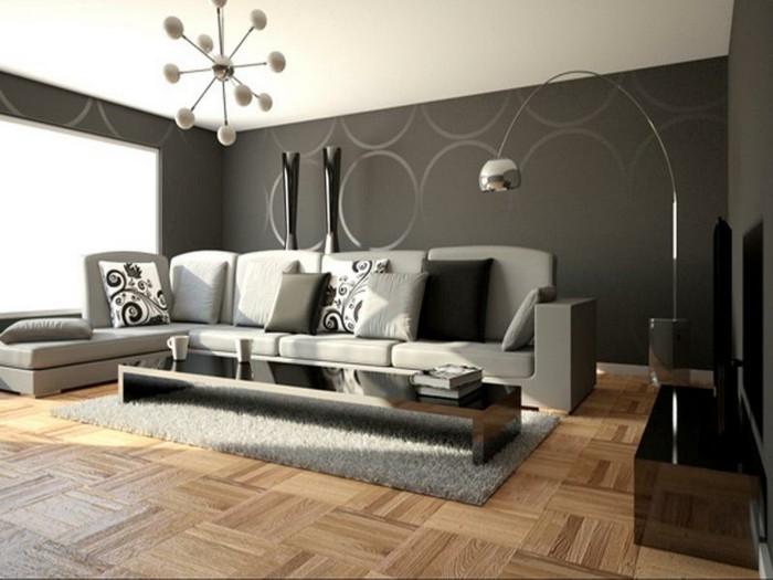 déco-salon-gris-peinture-grise-et-sofa-gris-table-basse-longue