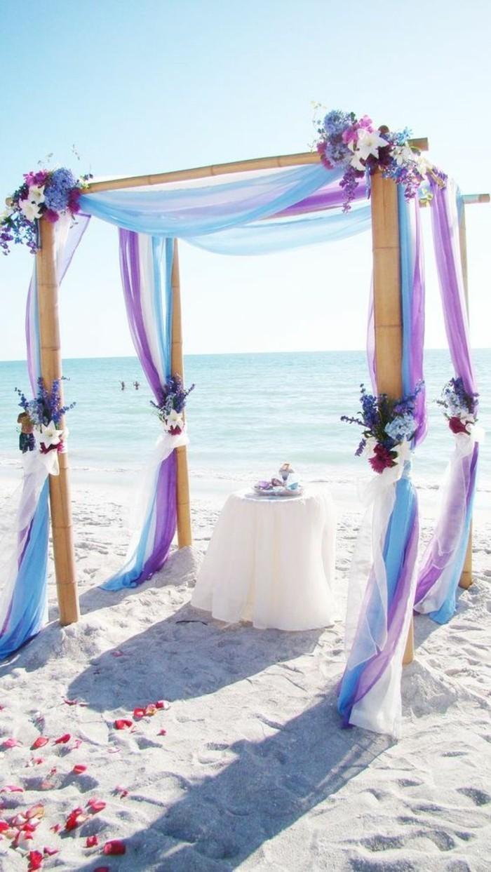 décoration-ache-mariage-violet-tulle-et-fleurs