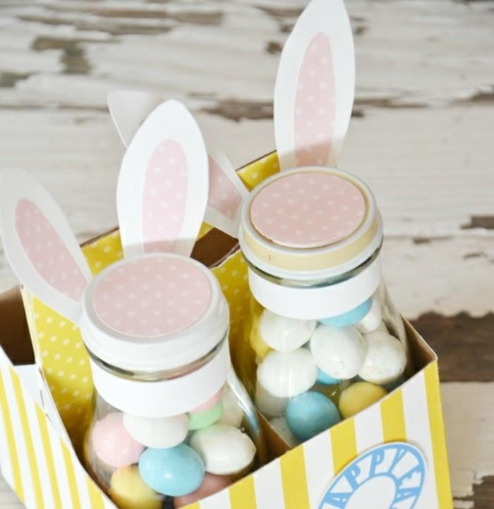 décoration-pot-de-confiture-imitation-lapin-pour-les-paques-bonbons