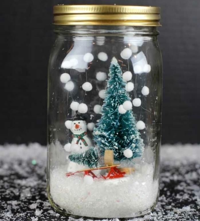 décoration-pot-de-confiture-noel-sapin-bonhomme-de-neige
