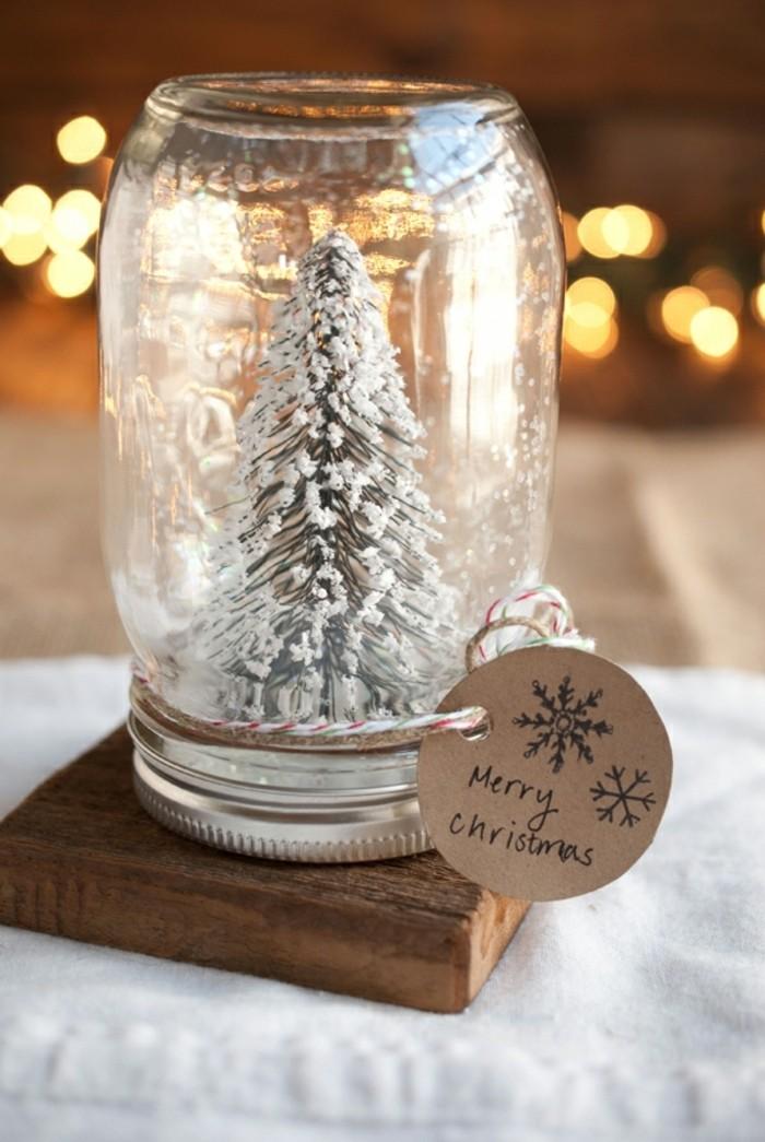 décoration-pot-de-confiture-sapin-minimaliste-neige-artificielle-joeux-noel-signe