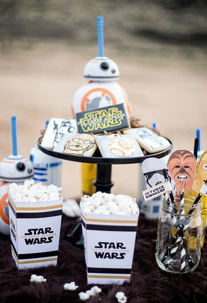 décoration-star-wars-anniversaire-pop-corns-décoration-de-table