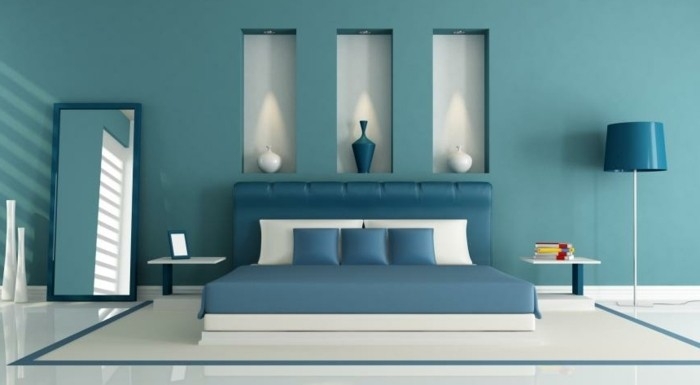 id es d co chambre bleu. Black Bedroom Furniture Sets. Home Design Ideas