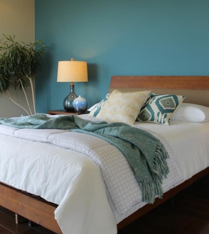 Chambre Bleu Nuit. Perfect Chambre Bleu Et Beige Peinture Chambre ...