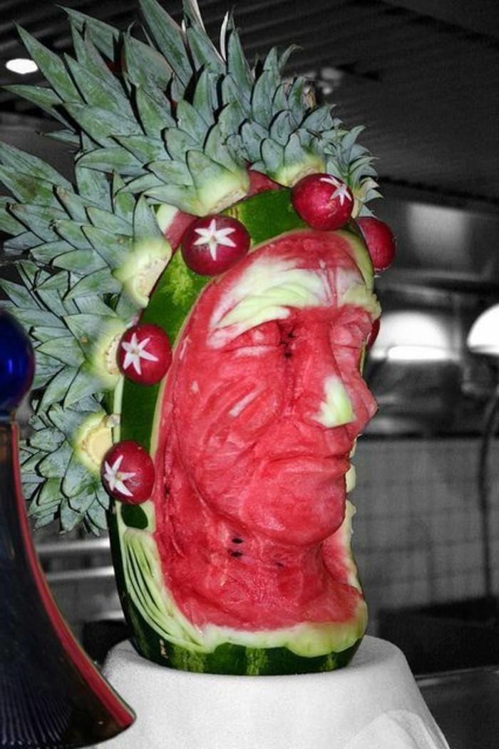 deco-fruit-indien-avec-melon-d'eau-sculptures-originales