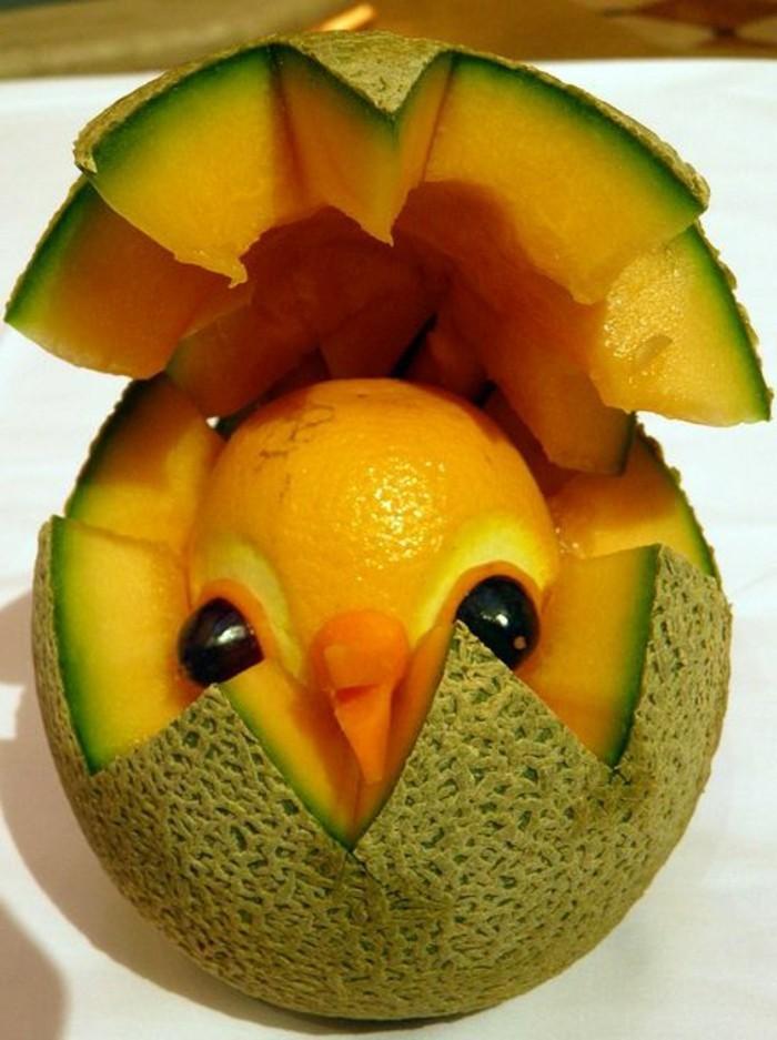 deco-fruit-melon-sculpté-citron-sculptures-originales
