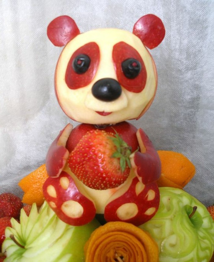 deco-fruit-ourson-en-pommes-bien-décoré