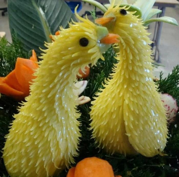 deco-fruit-sculptures-de-radis-blanc-art-créatif