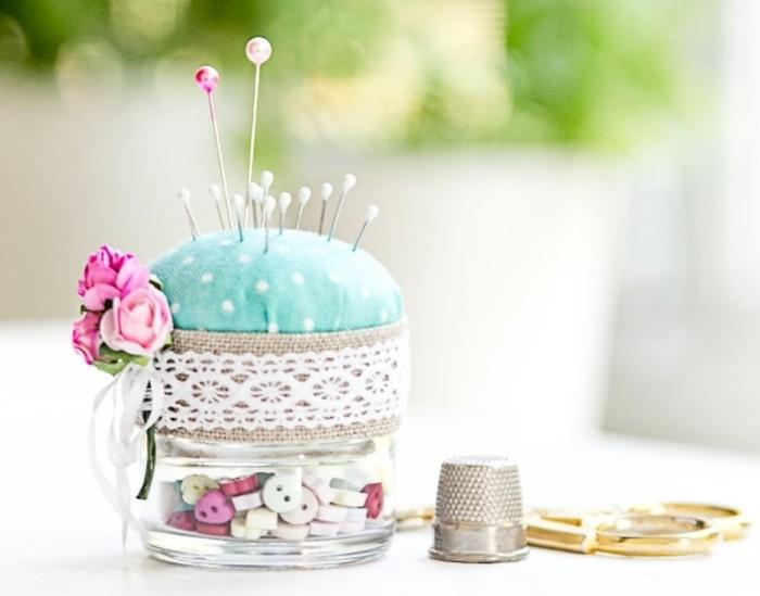 decoration-bocal-en-verre-accessoire-boîte-aiguilles-boutons