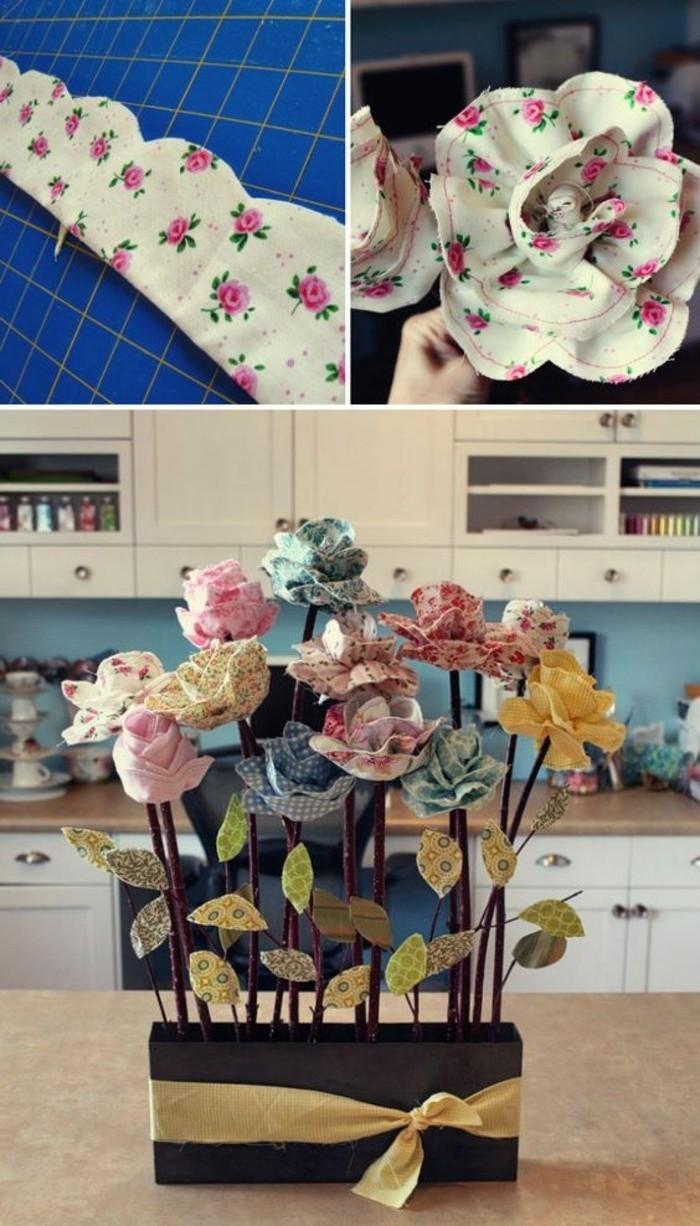 1001 id es comment faire des fleurs en tissu impressionnantes. Black Bedroom Furniture Sets. Home Design Ideas