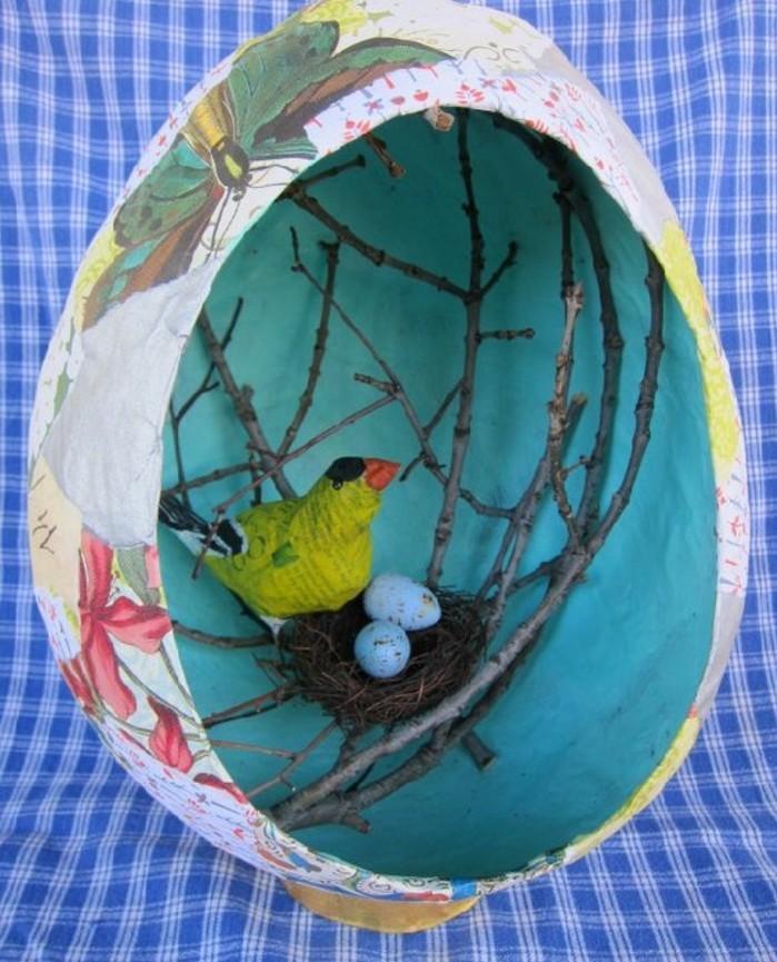 decoration-printaniere-niche-pour-oiseaux-en-forme-ronde-avec-un-nid-et-oiseau-dedans-comment-faire-du-papier-maché-resized