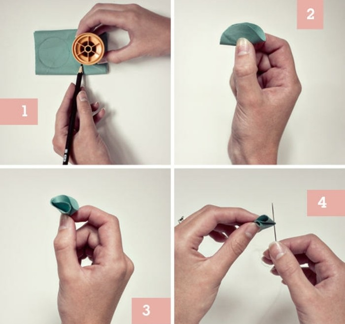 decouper-des-cercles-en-tissu-et-les-plier-pour-former-des-petales-comment-faire-des-fleurs-en-tissu